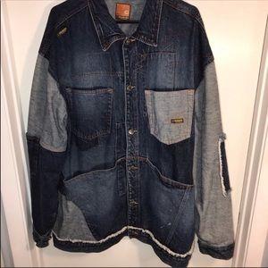 Fantastic patchwork jean jacket
